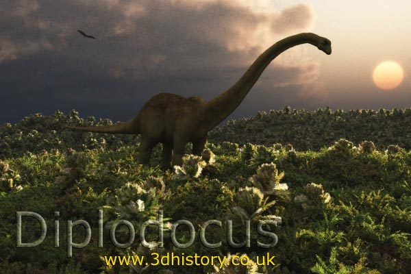 Diplodocus was a giant dinosaur from the Jurassic period over 100 million years ago.