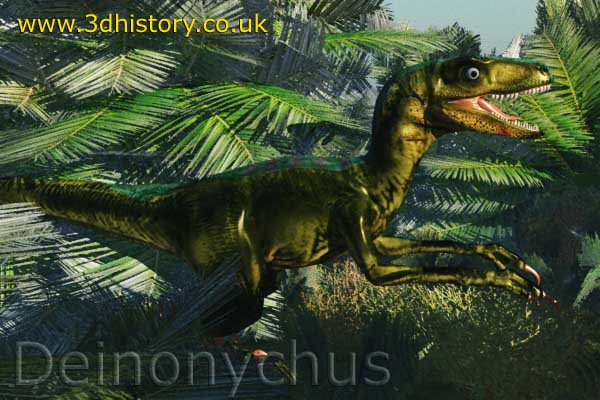 Deinonychus was a member of the raptor family