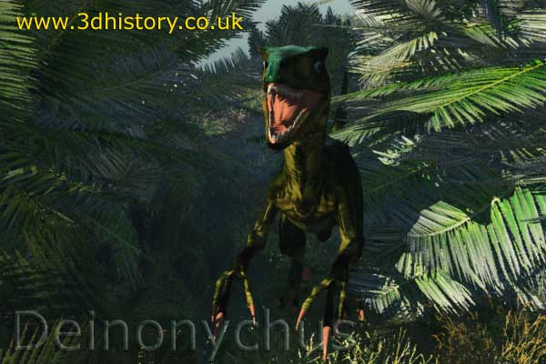 Deinonychus was an agile killer dinosaur related to the raptors