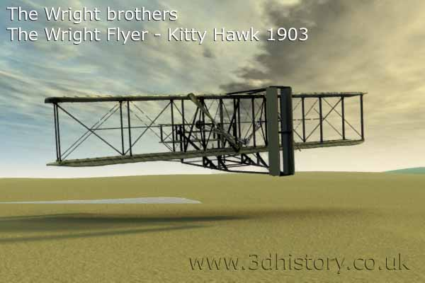 The Wright Brothers first flight using the Wright Flyer was at Kitty Hawk Sands in 1903
