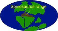 Spinosaurus was found in the tropical lands now known as North Africa