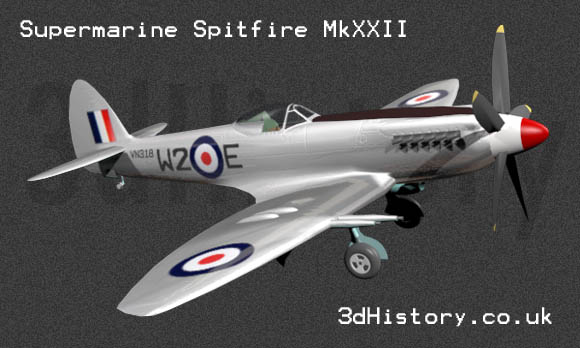 Supermarine Spitfire MKXXII was considered to be a Super-Spitfire being much heavier and having significant differences from the original prototype.