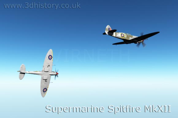 Spitfire Mk XXII was one of the latest types of Spitfire to be developed.