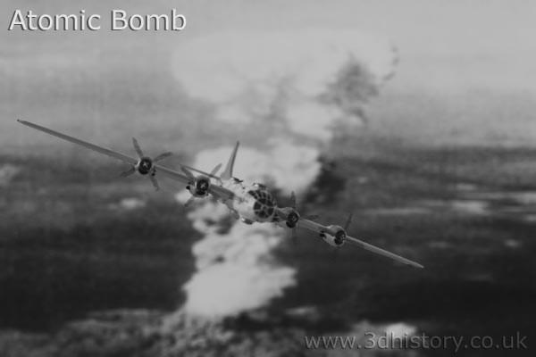 The only Atomic Bombs droppedin anger were on Hiroshima and Nagasaki.