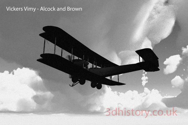 The Vickers Vimy was designed during the First World War and served with he RAF until around the 1930's