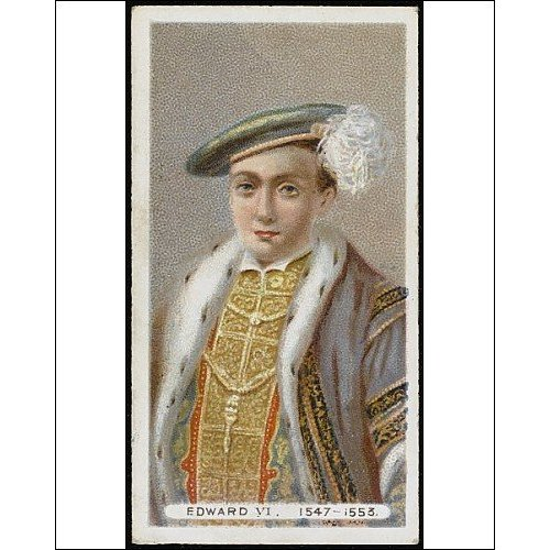 Print of Edward VI cigarette card from Mary Evans