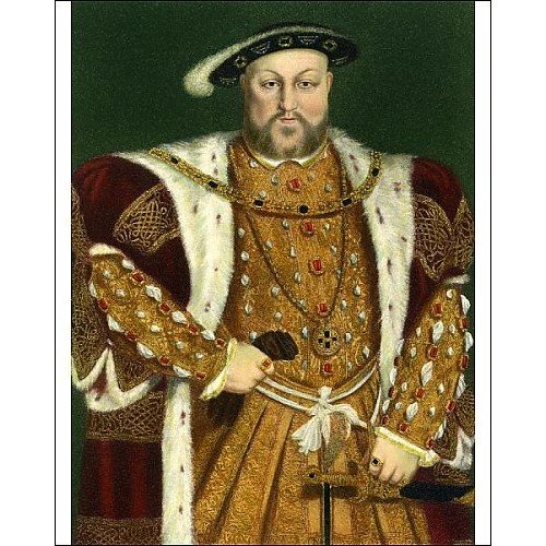 Print of Henry VIII c1543 from Heritage Images