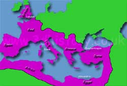 The Roman Empire encompassed the entire Mediterranean Sea at its height.