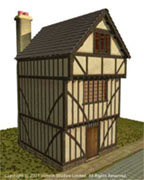 A half timber tudor house