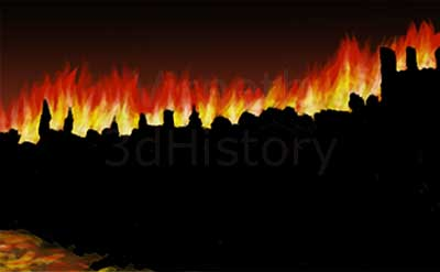 The Fire of London started on September 2nd 1666