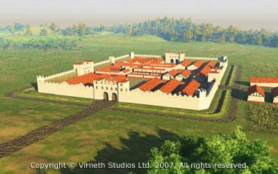 A Roman fort would be home to a Cohort of auxiliaries